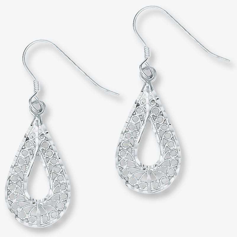 hoop diamond hidden sterling snap overstock back earrings free backs silver jewelry today watches in product shipping
