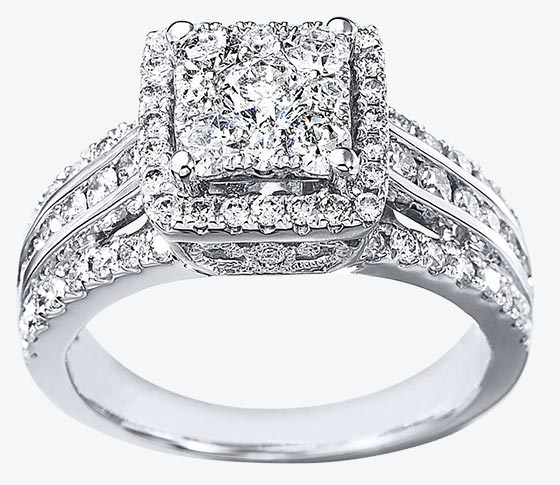thats the impression created by the invisible setting which assembles a grid of princess cut or square diamonds set side by side to appear as - Square Cut Wedding Rings