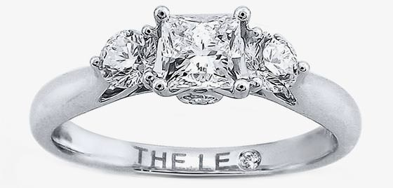 solitare wedding ring with accents