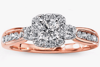 rose gold - Colored Wedding Rings