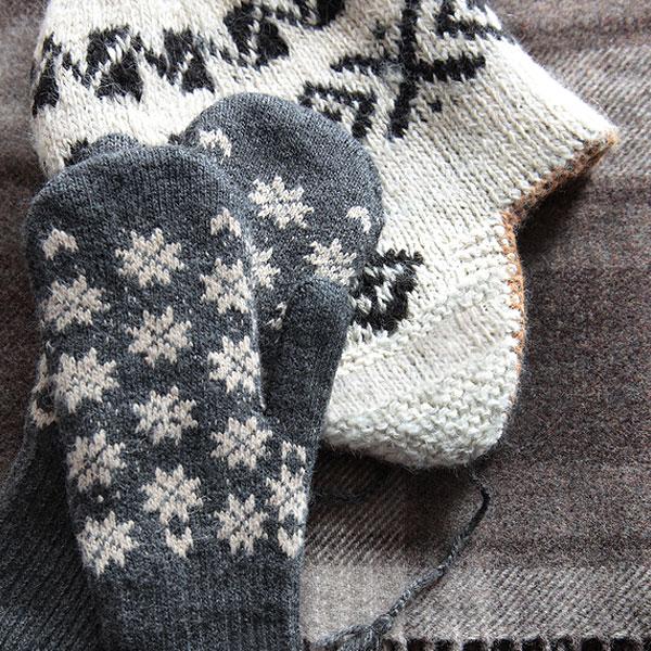 Hand knit beanie and Moleskine® journal.