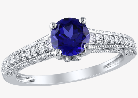 Colored Gem Engagement Ring